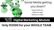 Social Media getting you down - come and learn how, when and what with Spa Sense Digital Marketing Module(1)